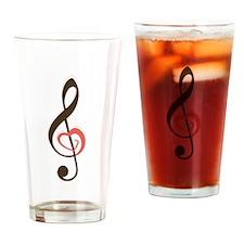 Love Music Drinking Glass