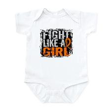 Fight Like a Girl 31.8 Leukemia Infant Bodysuit
