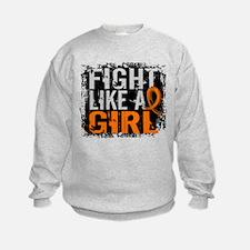 Fight Like a Girl 31.8 Leukemia Sweatshirt