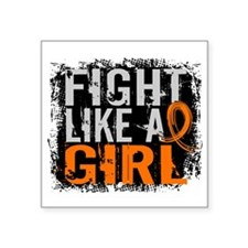 Fight Like a Girl 31.8 Leukemia Square Sticker 3""
