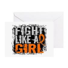 Fight Like a Girl 31.8 Leukemia Greeting Card