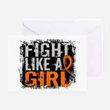 Fight Like a Girl 31.8 Leukemia Greeting Card