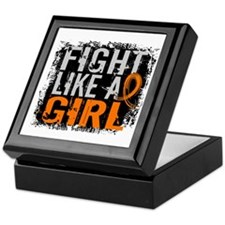 Fight Like a Girl 31.8 Leukemia Keepsake Box