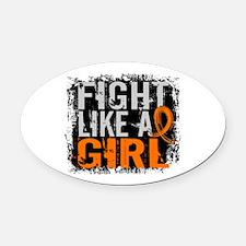 Fight Like a Girl 31.8 Leukemia Oval Car Magnet