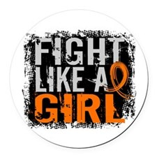 Fight Like a Girl 31.8 Leukemia Round Car Magnet