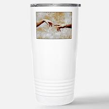 Woman and man touching - Travel Mug