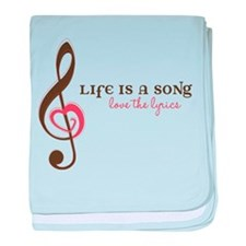 Love The Lyrics baby blanket