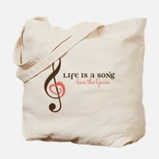 Love The Lyrics Tote Bag