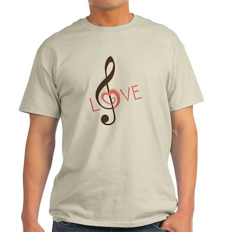 I Love Music Light T-Shirt