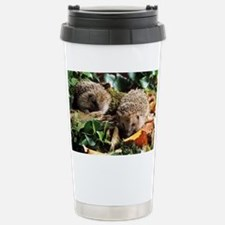 Baby hedgehogs - Stainless Steel Travel Mug