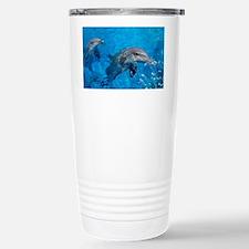 Bottlenose dolphins - Travel Mug