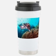 Broadclub cuttlefish about to lay eggs - Travel Mug