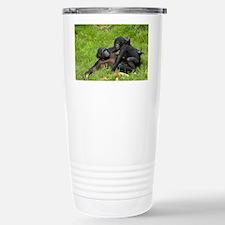 Bonobo apes mating - Stainless Steel Travel Mug