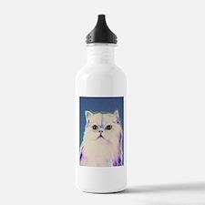 Pop art cat Water Bottle
