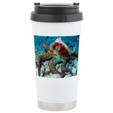 Day octopus - Travel Coffee Mug