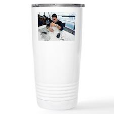 Diver plotting a course - Travel Mug