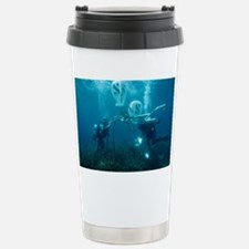 Divers fixing a buoy - Stainless Steel Travel Mug