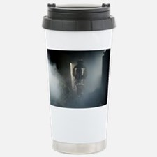 Fire fighter in a burnt house - Travel Mug