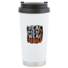 Real Men Leukemia Travel Mug