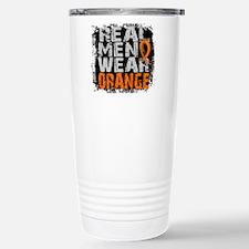 Real Men Leukemia Travel Mug