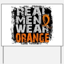 Real Men Leukemia Yard Sign