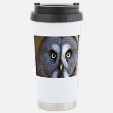 Great grey owl - Stainless Steel Travel Mug