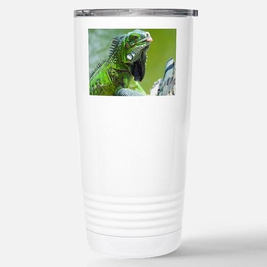 Green iguana - Stainless Steel Travel Mug