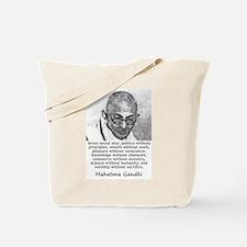 Seven Social Sins - Mahatma Gandhi Tote Bag