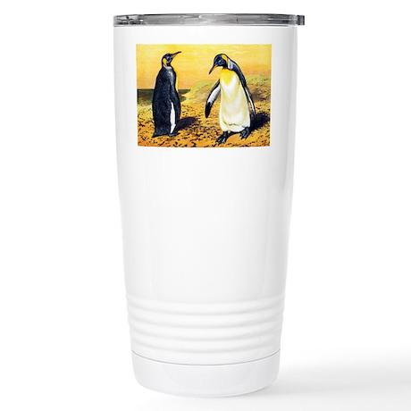King penguins - Stainless Steel Travel Mug