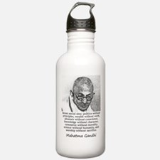 Seven Social Sins - Mahatma Gandhi Water Bottle