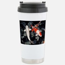 Koi carp in a pond - Stainless Steel Travel Mug
