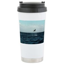 Mako shark on a fishing line - Travel Mug