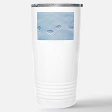 Lynx paw prints - Travel Mug