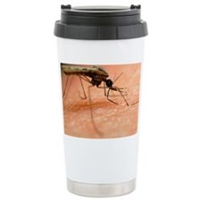 Mosquito feeding on human skin - Travel Mug