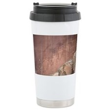 Native American Petroglyphs, Utah - Travel Mug