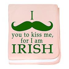 Funny Irish Mustache baby blanket