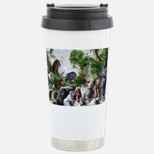 Prehistoric humans and animals - Travel Mug