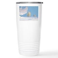 Polar bear mother and cub - Travel Mug