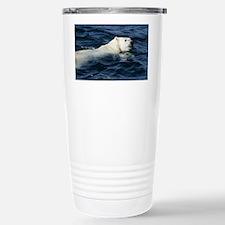 Polar bear swimming - Stainless Steel Travel Mug