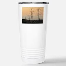 Power lines - Travel Mug