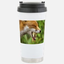 Red fox eating a chick - Stainless Steel Travel Mu