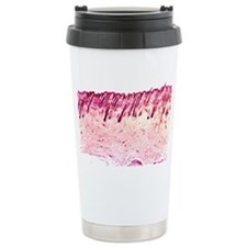 Skin tissue, light micrograph - Travel Mug