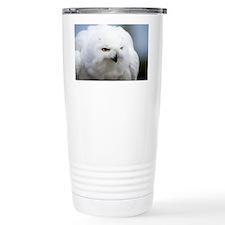 Snowy owl - Travel Coffee Mug