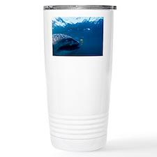 Whale shark and golden trevally - Travel Mug