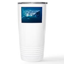 Whale shark and pilot fish - Travel Mug