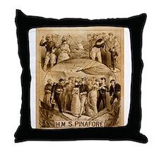 gilbert and sullivan Throw Pillow