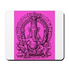 Pink Ganesh Hindu God of Knowledge Engraving Mouse