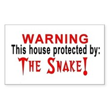Protected By: The Snake Rectangle Decal