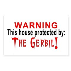 Protected By: The Gerbil Rectangle Decal
