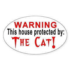 Protected By: the CAT Oval Decal